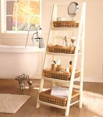 Ladder Shelf For Bathroom Ladder Shelf Or Wire Shelf Baskets The Lakeside Collection