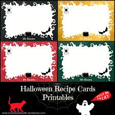 free halloween printable cards free halloween recipe cards printables buckwheat for your health