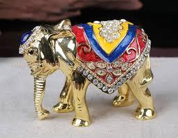 elephant shaped treasure trinket box bulk ornaments