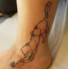 56 cat tattoos that will you want to get inked neon