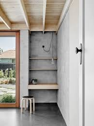 a modern home with an abundance of plywood studio przedmiotu