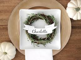 how to make customizable thanksgiving place cards diy