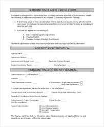 sample subcontractor agreement 9 examples in pdf word
