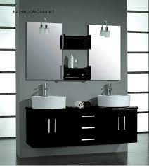 double sink bathroom decorating ideas vanity double round sink in dark wood wall mount vanity plus wall