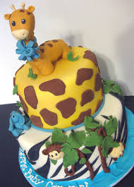 amusing safari themed cakes for baby shower 53 in baby shower