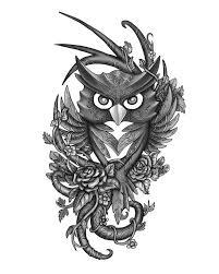 tribal owl tattoo owl tattoos tattoos library