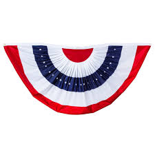 halloween flag banner amazon com patriotic bunting 2 sided pleated flag 58