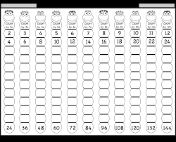 times tables worksheets year 4 grid paper print