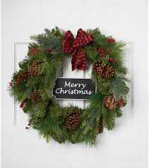 blooming 22 wreath with merry chalk sign green
