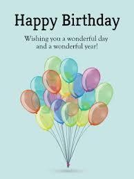 happy birthday simple design bundle of birthday balloons card birthday greeting cards by davia