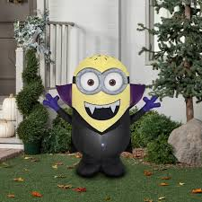 new outdoor halloween airblown inflatable gone batty minion jerry
