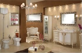 Classic Bathroom Furniture Luxurious Bathroom With Brown Wall Decor Marble Vanity And Sleek