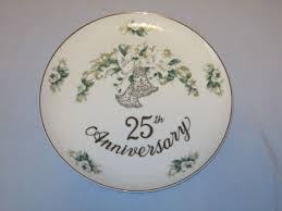 25th anniversary plate lefton china 10 25th anniversary plate painted 1130 white