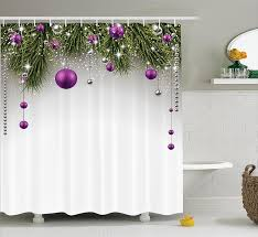 amazon com christmas shower curtain christmas decorations by