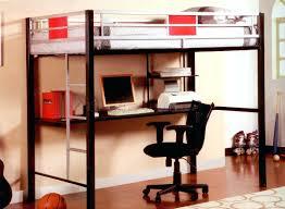 Black Bunk Bed With Desk Black Loft Bed With Desk Ding Metal Bunk Workstation