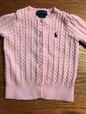 polo ralph lauren girls u0027 100 cotton cardigan sweaters newborn 5t