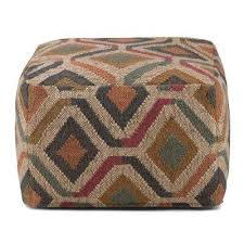 Brown Ottoman Ottomans Living Room Furniture The Home Depot