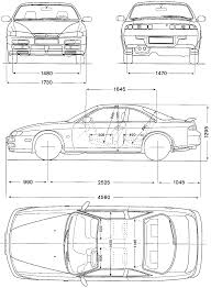 nissan silvia drawing nissan silvia s14 1994 blueprint download free blueprint for 3d