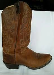s boots justin justin 2253 s boots size 10d brown leather great