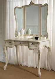 aico hollywood swank vanity contemporary white antique vanity table design with big mirror and