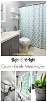 best 25 aqua bathroom decor ideas on pinterest aqua bathroom light bright guest bathroom makeover the reveal