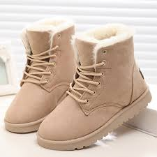 womens winter boots classic women winter boots suede ankle snow boots warm fur
