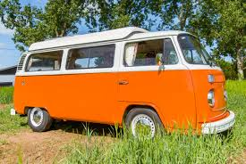 orange volkswagen van meet tallulah classic vw campervan hire bath
