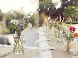 wedding flowers jam jars a cheerful summer wedding with country flowers the