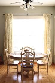 Curtain Ideas For Dining Room Decor Yellow Floral Pinch Pleat Curtains With Dining Set And