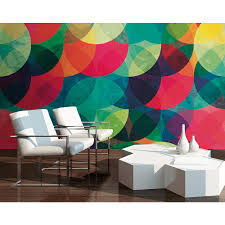 tonal circles wall mural wals0227 the home depot