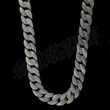 style silver necklace images Mens 14k gold plated silver glitter designer style chain necklace jpg