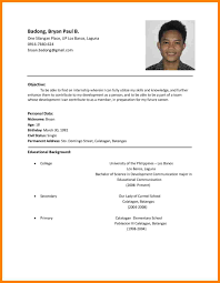 resume format 2013 sle philippines short resume letter philippines awesome collection of resume sles