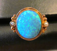 matrix opal ring vintage opal doublet u0026 seed pearl ring sterling silver 14k yellow