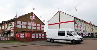 van and england flags blacklight tours