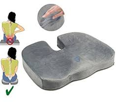 coussin pour fauteuil de bureau coussin orthopédique coccyx mousse à mémoire de forme pour