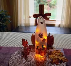 thanksgiving decoration wine bottle light by lightbottlesbyvicki