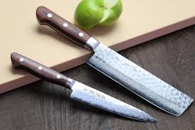 cold steel kitchen knives yoshihiro vg 10 16 layer hammered damascus stainless steel nakiri