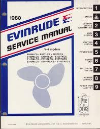 evinrude outboard motor service manual v4 models 1980 u2022 14 50