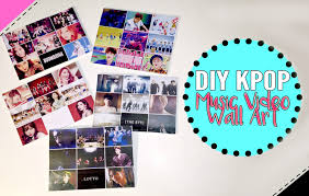 diy kpop room decor music video wall art youtube idolza home