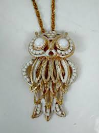 owl vintage necklace images Owl jewelry vintage virtue jpg