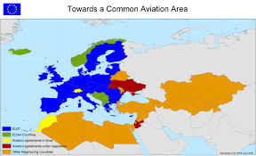 European Country Map by External Aviation Policy A Common Aviation Area With The Eu U0027s