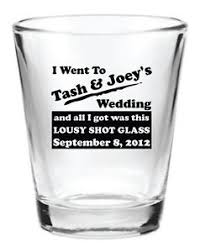 wedding favor glasses 72 wedding favors personalized 1 5oz glass wedding favor