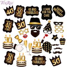 Props For Photo Booth Aliexpress Com Buy Fengrise 30 Years Birthday Photo Frame