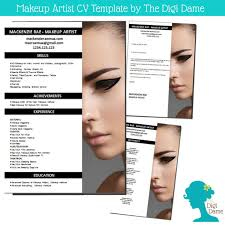professional makeup artists websites cv template package makeup artist includes a cv by digidame cv