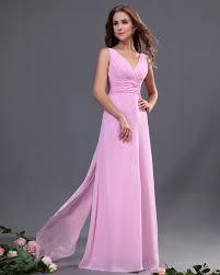 pink bridesmaid dresses chiffon floor length pink wedding bridesmaid dresses fashjourney
