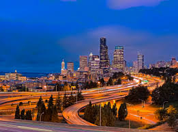 seattle city light login gino gotelli photography hdr photography city lights blue skys cars
