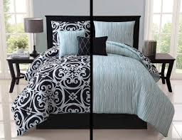 with love home decor 5pc luxury kennedy black white teal