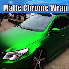 chrome wrapped cars 2018 satin chrome green vinyl car wrapping film with air release
