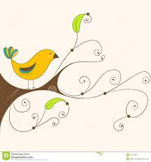 cute spring bird on a branch royalty free stock image image