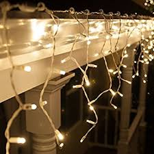 70 5mm led warm white icicle lights 7 5 white wire